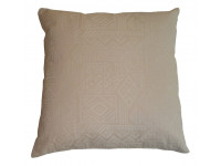 Cream Aztec Design Cushion (Large 65cm x 65cm) - COMPLETE WITH HOLLOW FIBRE FILLED INNER