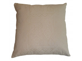 Cream Aztec Scatter Cushion 45cm x 45cm - COMPLETE WITH HOLLOW FIBRE FILLED INNER