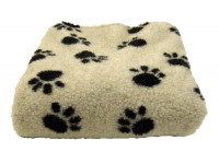 Cream Paws Sherpa Fleece Dog Blanket  DOUBLE LAYERS FOR EXTRA COMFORT