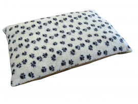 Fleece Dog Bed Cushion With Waterproof Base - Cream Paws