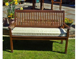 Garden Bench Cushion - Cream Striped