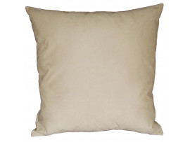 Cream Faux Suede Cushion (Large 65cm x 65cm) - COMPLETE WITH HOLLOW FIBRE FILLED INNER