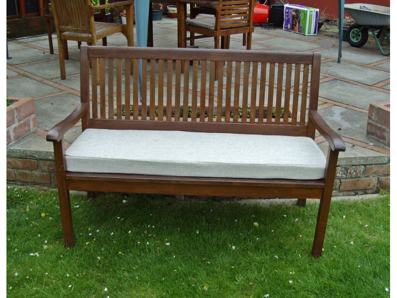 Garden Bench Cushion - Cream Weave