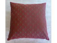 Maroon & Grey Stars Cushion - (Large 65cm x 65cm) - COMPLETE WITH HOLLOW FIBRE FILLED INNER