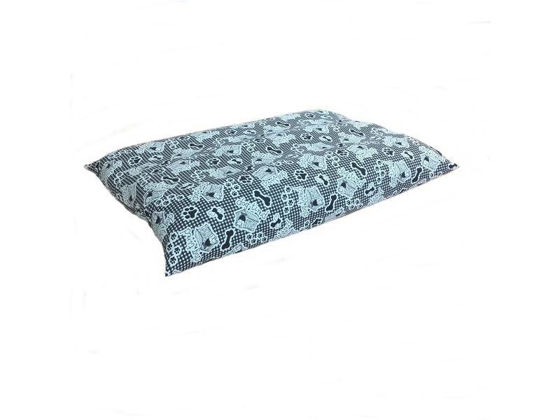 Mint & Black Dog Bed Cushion - Dog Tired Design