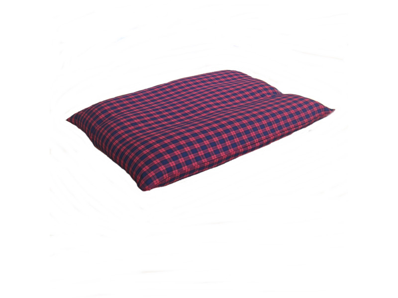 Blue & Red Tartan Dog Bed Cushion