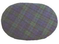 Fleece Oval Pad - Blackwatch Tartan