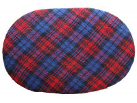 Fleece Oval Pad - Red Tartan