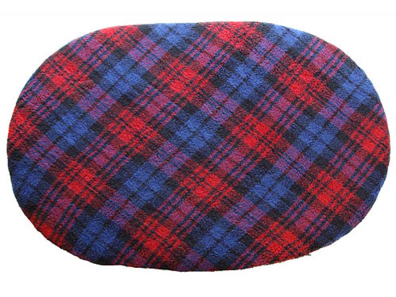 Fleece Oval Pad - Red Tartan
