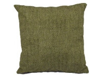 Green Weave Pattern Cotton Scatter Cushion (Large 65cm x 65cm) - COMPLETE WITH HOLLOW FIBRE FILLED INNER