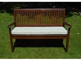 Garden Bench Cushion - Cream Patterned