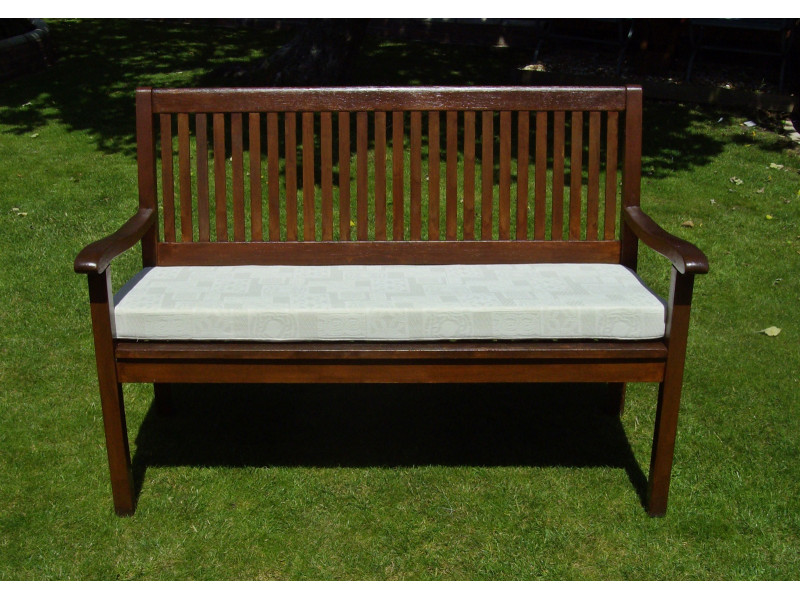 Garden Bench Cushion - Cream Patterned