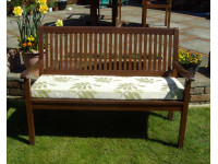 Garden Bench Cushion - Green Leaf