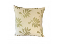 Green Leaf Scatter Cushion - 45cm x 45cm - COMPLETE WITH HOLLOW FIBRE FILLED INNER