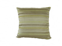 Beige Stripe Cushion - (Large 65cm x 65cm) - COMPLETE WITH HOLLOW FIBRE FILLED INNER