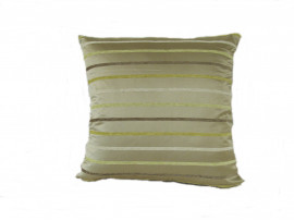 Beige Stripe Scatter Cushion - 45cm x 45cm - COMPLETE WITH HOLLOW FIBRE FILLED INNER