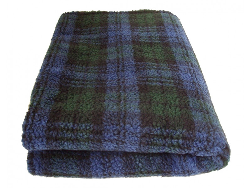 Deluxe Sherpa Fleece Lap Blanket - DOUBLE LAYERED - Blackwatch Tartan