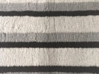 PnH Veterinary Bedding - NON SLIP - Grey & Black Stripes