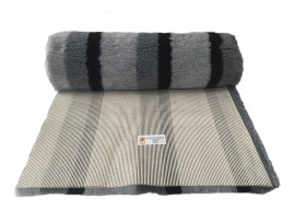 PnH Veterinary Bedding - NON SLIP - By The Roll - Black & Grey Stripe