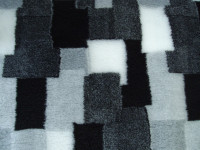 PnH Veterinary Bedding - NON SLIP - SQUARE - Grey, Black & white Patchwork
