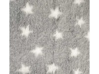 PnH Veterinary Bedding - NON SLIP - By The Roll - Grey with White Stars