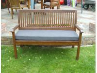 Garden Bench Cushion - Grey Weave