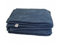 Blue Sherpa Fleece Dog Blanket  DOUBLE LAYERS FOR EXTRA COMFORT