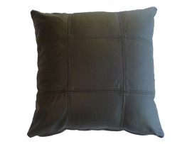 Real Leather Scatter Cushion - Large 53cm x 53cm - Brown - COMPLETE WITH HOLLOW FIBRE FILLED INNER