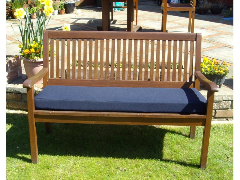 Garden Bench Cushion - Navy