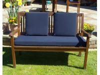 Garden Bench Cushion Set Including Back Pads - Navy