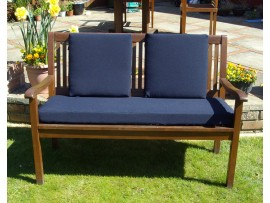 Garden Bench Cushion Set Including Back Pads - Navy