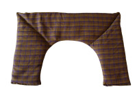 Brown Tartan Neck Heat Pad