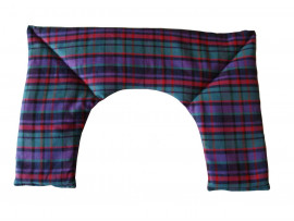 Purple Tartan Neck Heat Pad