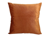 Orange Velour Scatter Cushion - 43cm x 43cm - COMPLETE WITH HOLLOW FIBRE FILLED INNER