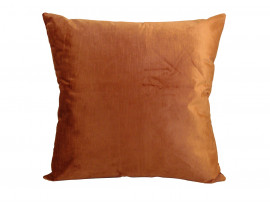 Orange Velour Cushion (Large 65cm x 65cm) - COMPLETE WITH HOLLOW FIBRE FILLED INNER