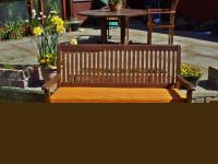 Garden Bench Cushion - Orange Stripe