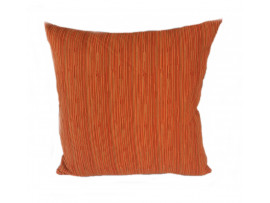 Orange Striped Cushion - Large 65cm x 65cm - COMPLETE WITH HOLLOW FIBRE FILLED INNER