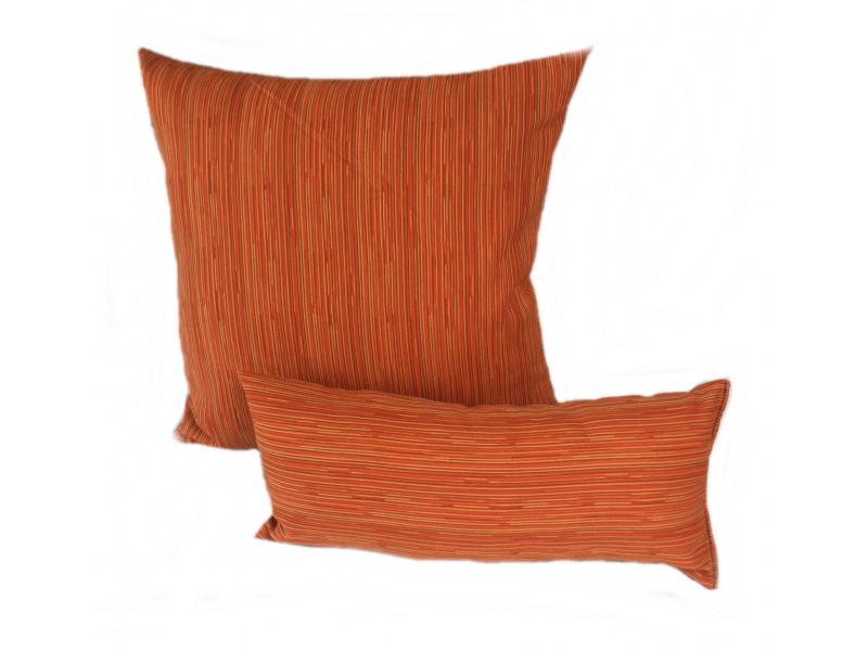Orange Stripe - Cushion & Bolster Set