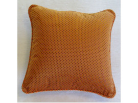 Orange Dotted Scatter Cushion - 40cm x 40cm - COMPLETE WITH HOLLOW FIBRE FILLING