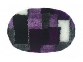 PnH Veterinary Bedding - NON SLIP - Oval - Purple Patchwork