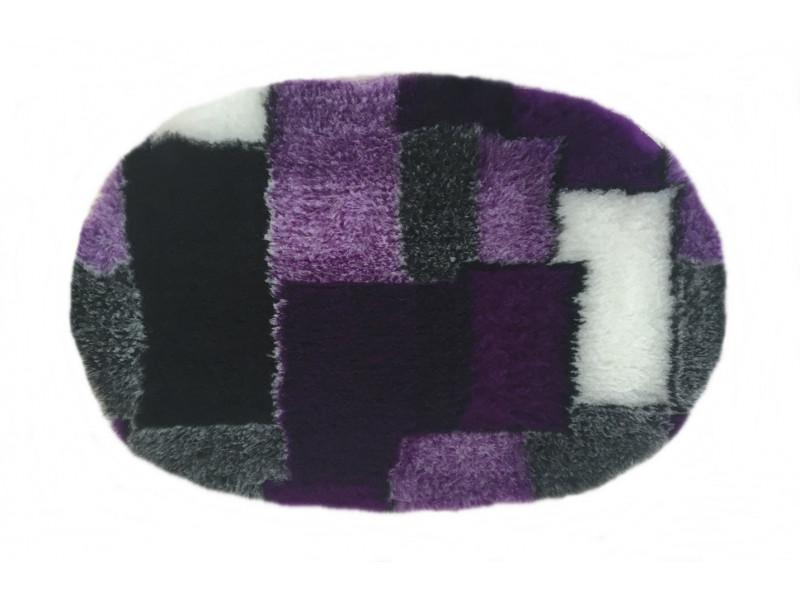 PnH Veterinary Bedding - NON SLIP - Oval - Purple Patchwork