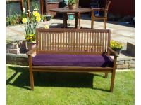 Garden Bench Cushion - Purple Cord
