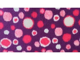 PnH Veterinary Bedding - NON SLIP - RECTANGLE - Purple with Pink Circles