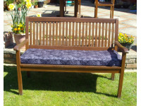 Garden Bench Cushion - Purple Print