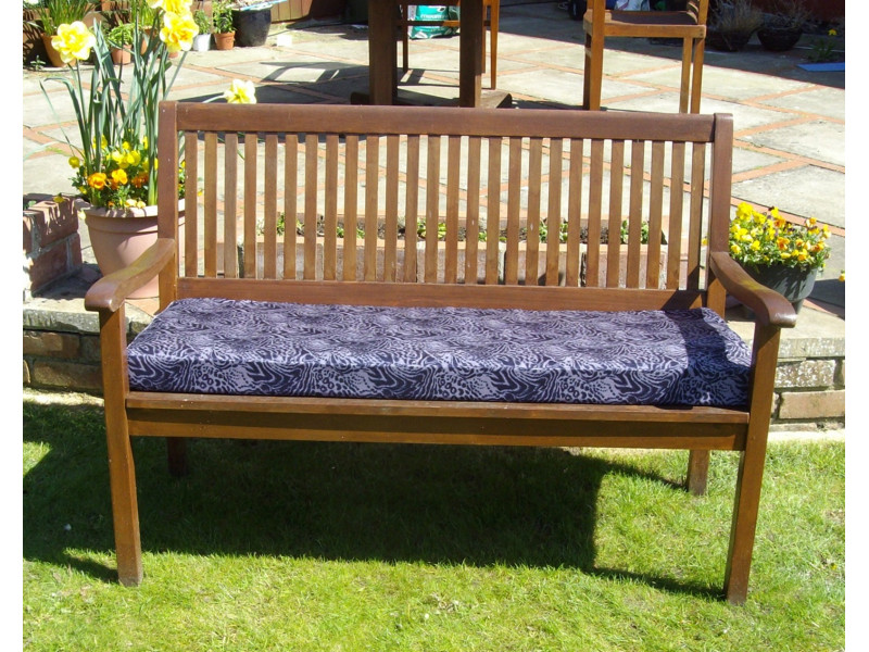 Garden Bench Cushion - Purple Print