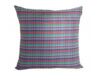 Purple Tartan Design Cushion - Large 65cm x 65cm - COMPLETE WITH HOLLOW FIBRE FILLED INNER
