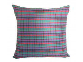 Purple Tartan Design Scatter Cushion - 45cm x 45cm - COMPLETE WITH HOLLOW FIBRE FILLED INNER