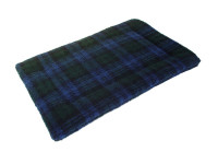 Sherpa Fleece Quilted Dog Pad - Blackwatch Tartan