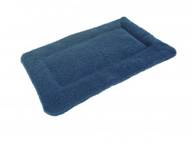 Sherpa Fleece Quilted Dog Pad - Harbour Blue