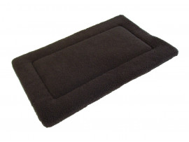 Sherpa Fleece Quilted Dog Pad - Brown